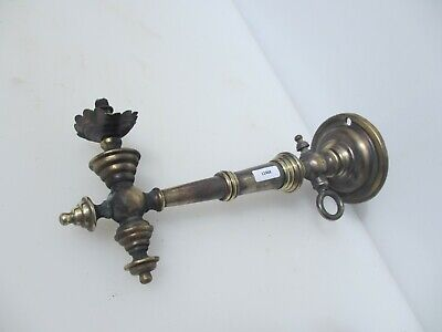 Victorian Brass Gas Wall Light Sconces Lamp Antique Old French Georgian