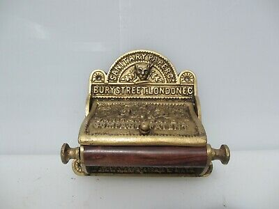 Cast Iron Loo Roll Holder Toilet WC Antique STYLE REPRODUCTION Ornate Gold Wood