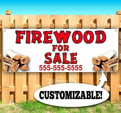 3x10 2x6 FIREWOOD for sale Vinyl Banner advertising Sign Full color 2x4 ft