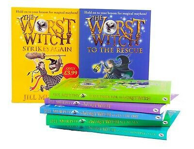Worst Witch 7 Books Children Collection Paperback Gift Pack By Jill Murphy
