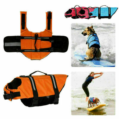 Puppy Surf Saver Coat Pet Safety Clothes Dog Life Jacket Swimming Preserver