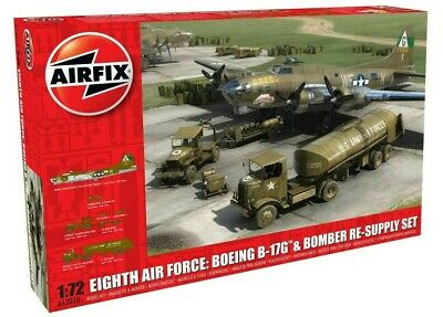 Airfix 1:72 Eighth Air Force Boeing B-17G Fortress & Bomber Re-Supply Set A12010