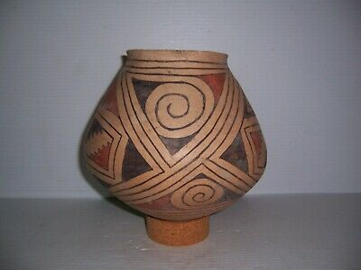 Pre-Columbian Casas Grandes Polychrome Pottery Olla Jar Pot Vessel Artifact 8""