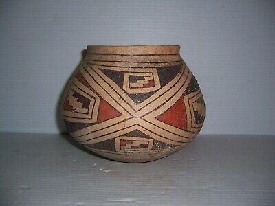 Pre-Columbian Casas Grandes Polychrome Pottery Olla Jar Pot Vessel Artifact 6""