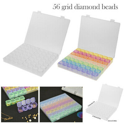 56 Grids Diamond Embroidery Painting Tools Jewelry Bead Drill Storage Box