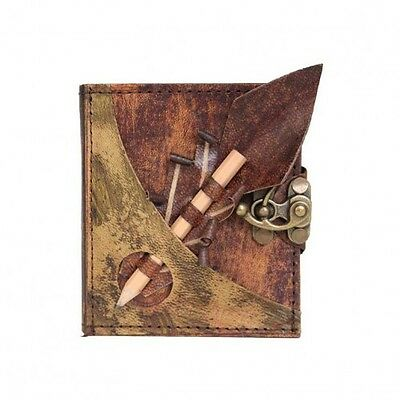 Handmade Real Leather Refill Journal Brown Diary Notebook Sketchbook Pen Holder