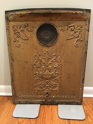 Antique Cast Iron Fireplace / Wood Burning Stove Cover