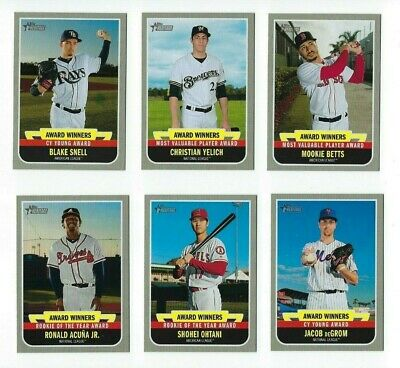 Award Winners Insert 2019 Topps Heritage High Number Complete Your Set You Pick