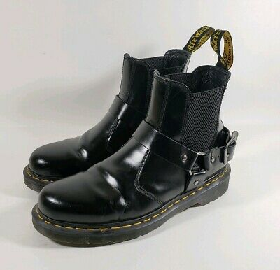 f1c80d19a81 NEW DR MARTENS Wincox Black Smooth Leather Moto Boots Us Men's 8 ...