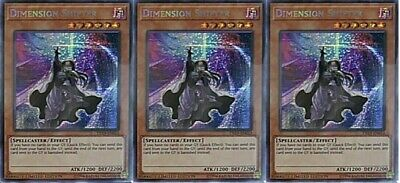 *** 3X Dimension Shifter 3X *** Playset Secret Rare Tn19-En012 Yugioh!