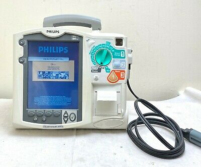 PHILIPS MRX HEARTSTART AED DEFIB + PACER, + Co2 OPTION, PRINTER M3536A 2020 PADS
