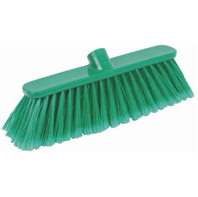 50 /& 60cm Heavy Duty Broom Sweeping Brush Head Replacement Soft Natural Bristle