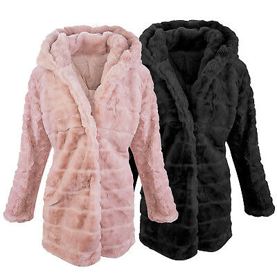 DESIGNER GIACCA INVERNALE Donna Teddy Pile Cappotto in Pile D 406