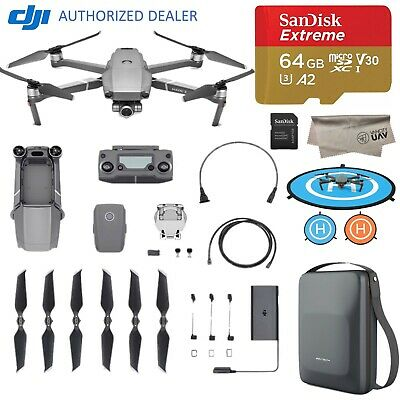 DJI Mavic 2 Zoom Drone Quadcopter with 64GB MicroSD, Landing Pad, Carrying Case