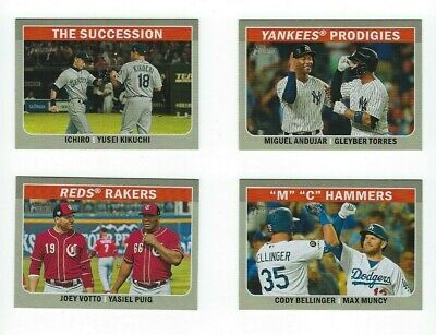 Combo Cards Insert 2019 Topps Heritage High Number Complete Your Set You Pick U