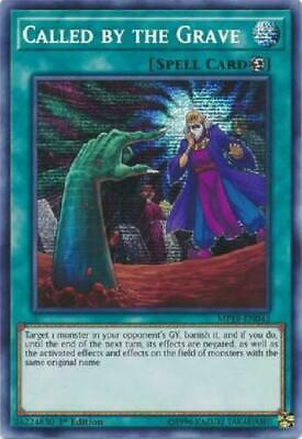 *** Called By The Grave *** Prismatic Secret Rare Mp19-En043 Yugioh!