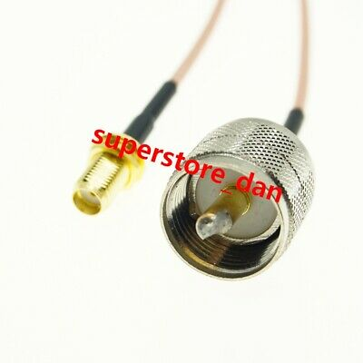 SMA Female Bulkhead to UHF PL259 Male RG316 Coax Low Loss Jumper RF Cable