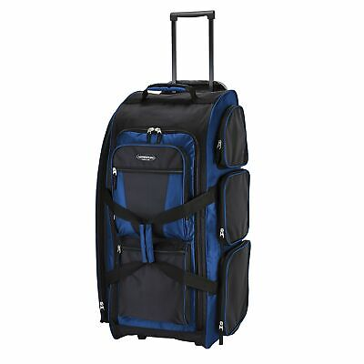 "Travelers Club 30"" ""Xpedition"" Upright Rolling Duffle Luggage Neon Blue Option"