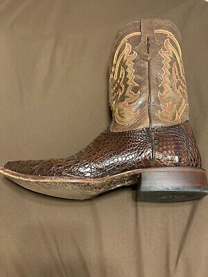 50778ef19a7 LUCCHESE HANDMADE CLASSIC Mens Black Belly Caiman Crocodile Shorty ...