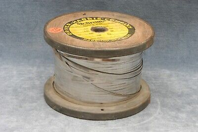 """5Lb Spool Of Nichrome Alloy V Heater Resistance Wire, 1/8"""" X .005"""", 1961"""