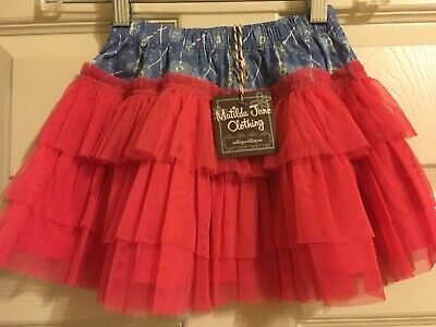 NWT Matilda Jane Friends Forever Amber Skirt Girls Size 2