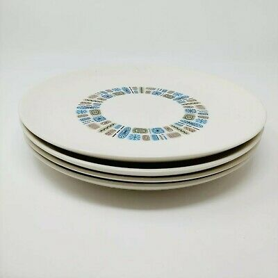 "Vintage Canonsburg Atomic Temporama 4 Dinner Plates 10"" MCM Display Crafts"