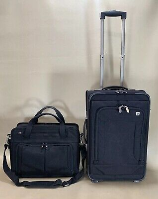 "Victorinox Mobilizer Black Carry On 16"" Brief & 20"" Upright Wheeled Suitcase"