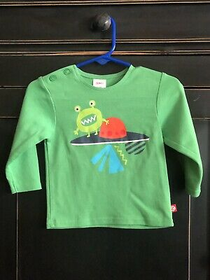 New Without Tags Zutano Cotton Knit Shirt Boy's Size 12 Months Alien