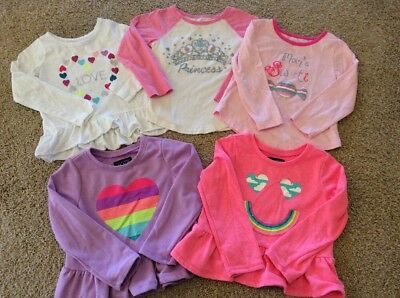 Euc The Childrens Place Toddler Sz 4T Lot Of (3) Long Sleeve, (2) Sweatshirts
