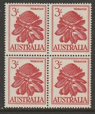 Australia Pre Decimal Mint Stamps - Native Flowers 3/- Block of 4 MNH (1697)
