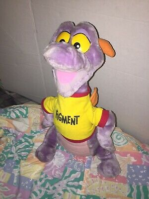 "Vintage Figment Walt Disney Disneyland Disneyana Plush Stuffed Animal 18"" Dragon"