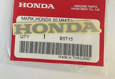 HONDA MARK 65mm METALLIC SILVER DECAL STICKER LOGO BADGE 100% GENUINE ORIGINAL