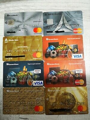 8 credit cards (not active). 2 - platinum