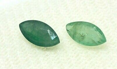 1.10 Cts - NATURAL  PAIR OF ZAMBIAN EMERALD  LOOSE GEMSTONES