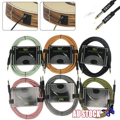 Premium Guitar Lead: Noiseless Cable Electric/Bass/Acoustic to Amp Instrument