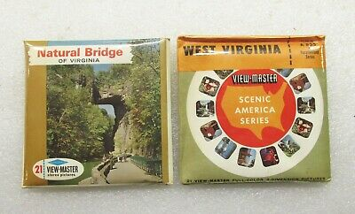 Two View Master Unopened Reel Packs, West Virginia A835 & Natural Bridge A828