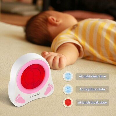 LALU Chidlren Sleep Trainer Simulation of Diurnal Change Graphic Clock Alarm QZ