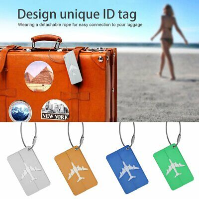 High Quality Metal Luggage Tag Aluminum Alloy Air Plane Travel Identity Card QZ