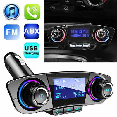 Auto Bluetooth FM Transmitter KFZ Radio MP3 Musik Player USB Adapter Car Kit NEU