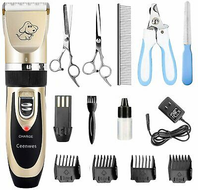 Ceenwes Dog Clipper Rechargeable Dog Trimmer Cordless Pet Grooming Tool