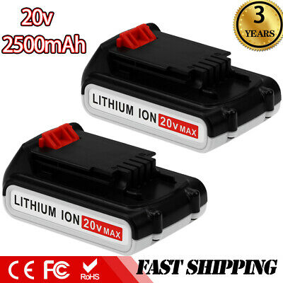 2XReplace for 20V 2.5Ah Black and Decker MAX Lithium Battery LBXR20 LB20 LB2X402