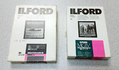 Vintage LOT Photographic Paper ILFORD  Multigrade DELUX MGX MGIV B&W