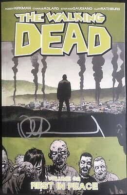 The Walking Dead Volume 32 Rest In Peace Tpb Signed By Charlie Adlard