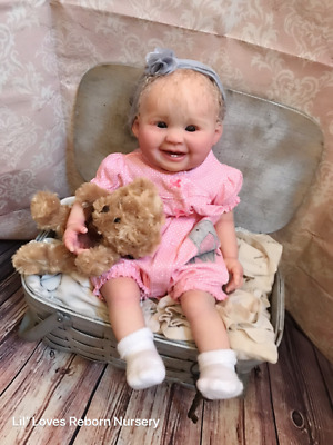 Reborn Baby Girl JULIANA by PING LAU BEAUTIFUL LE ART TODDLER DOLL! SALE!
