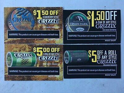 $13.00 Worth of GRIZZLY Coupons (expire 8-31 & 10-31-2019)