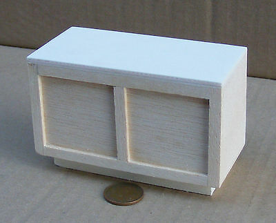 1:12 Scale Small Straight Natural Finish Wood Bar Counter Tumdee Dolls House