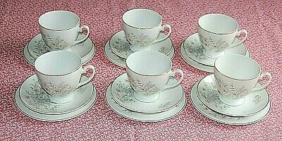 Vintage Mayfair Fine Bone China 18 Piece Pink Floral Tea Set.