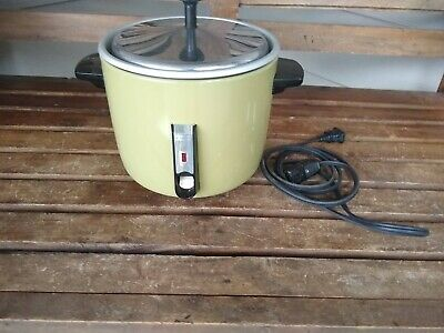 VINTAGE 3 CUP GREEN SANYO 293H Automatic Rice Cooker Vegetable Steamer, NICE!