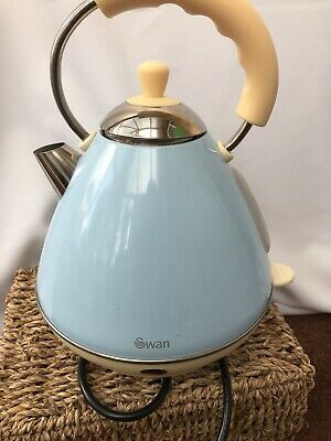 Swan Retro Dome Kettle Blue Electric Really Good Condition Pyramid