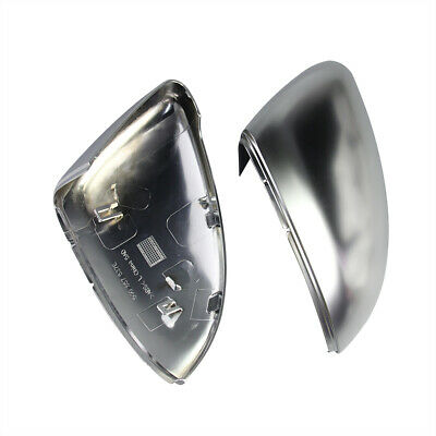 2x ABS Sliver Shell Rearview Mirror Cap Cover Housing For VW Lamando Golf 7 GTI
